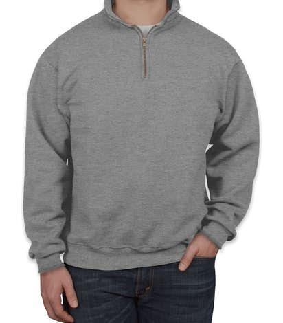 Jerzees Super Sweats® 50/50 Quarter Zip Sweatshirt - Oxford