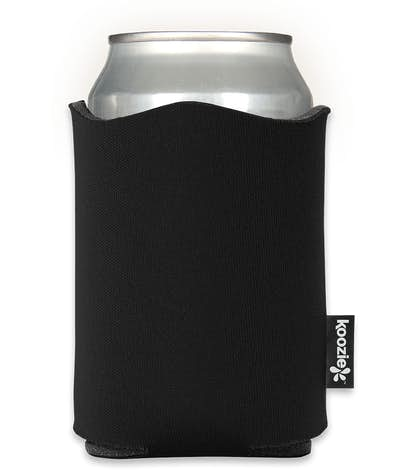 Fancy Edge Foldable Can KOOZIE ® - Black