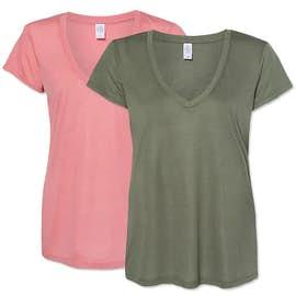 Alternative Apparel Women's Slinky Jersey V-Neck T-shirt