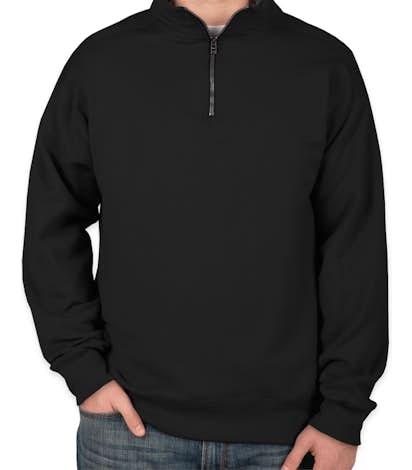 Hanes Nano Quarter Zip Sweatshirt - Black