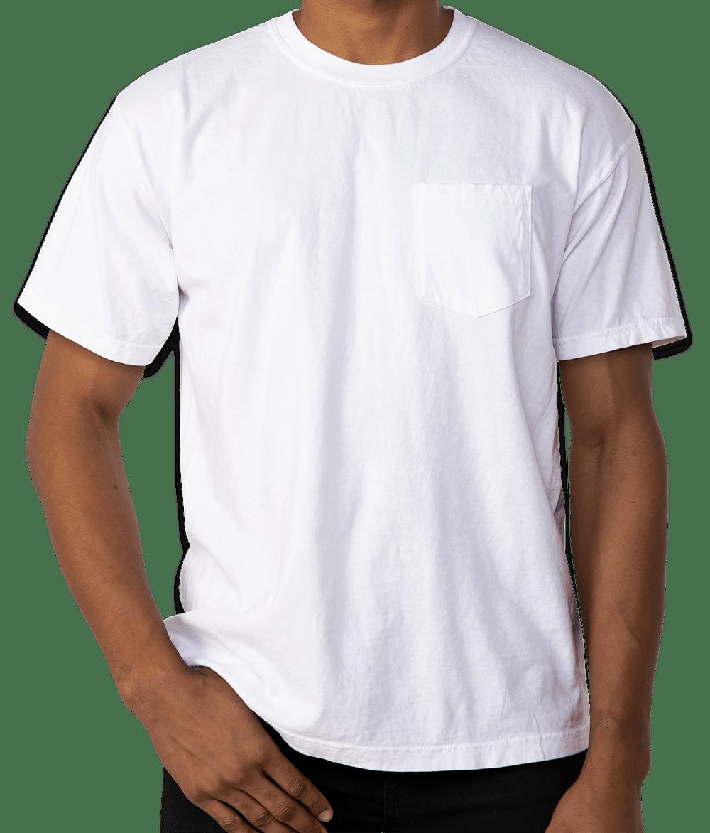 Custom Comfort Colors 100 Cotton Pocket T Shirt Design Short