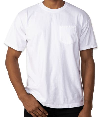 Custom Comfort Colors 100 Cotton Pocket T Shirt Design Short