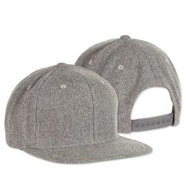 Yupoong Wool Flat Bill Snapback Hat