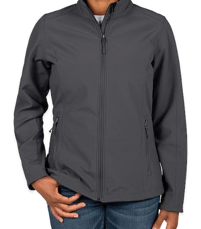 Port Authority Women's Core Fleece Lined Soft Shell Jacket - Battleship Grey
