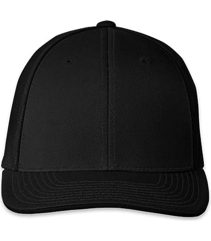 Pacific Headwear Flexfit Trucker Hat - Black / Black