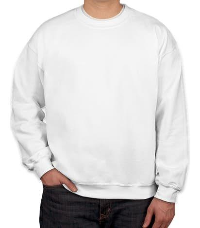 Gildan Midweight 50/50 Crewneck Sweatshirt - White