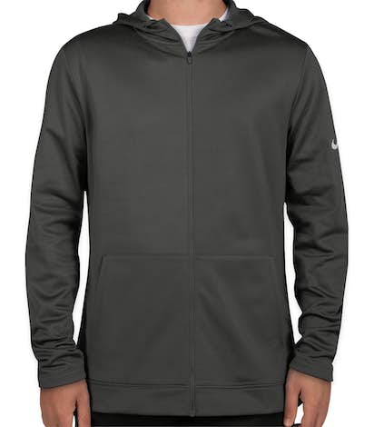 8e9e56163a8e Nike Therma-FIT Full-Zip Performance Hooded Sweatshirt - Anthracite