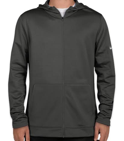 Nike Therma-FIT Full-Zip Performance Hooded Sweatshirt - Anthracite