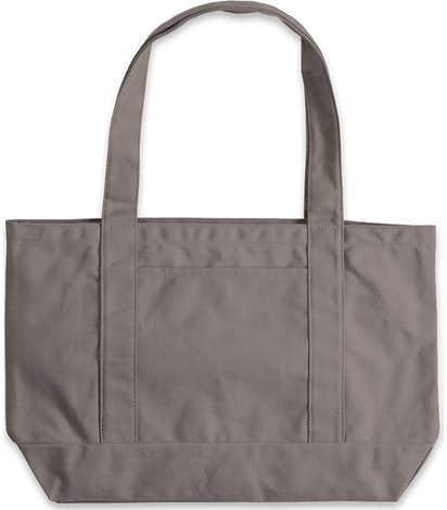 Large Midweight Gusseted Pigment Dyed Boat Tote - Grey