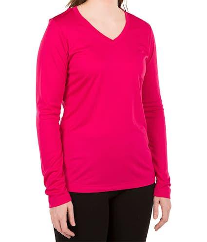 aff3a399 Sport-Tek Women's Long Sleeve V-Neck Competitor Shirt - Other View: 1
