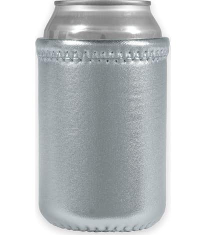 Metallic Neoprene Can Cooler - Metallic Silver