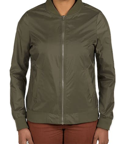 Charles River Women's Lightweight Flight Jacket - Olive