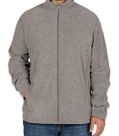 Port Authority Heather Microfleece Full Zip Jacket - Pearl Grey Heather