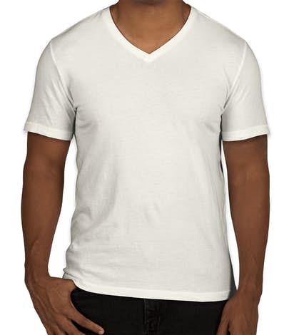 GAP Essential Short Sleeve V-Neck Tee - Off White