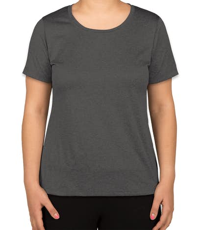Sport-Tek Women's Heather Performance Shirt - Graphite Heather