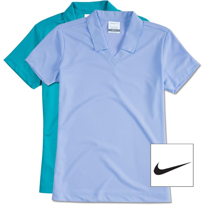 9a9e7a4b1e7844 Design Custom Embroidered Nike Golf Ladies Dri-FIT Micro Pique ...