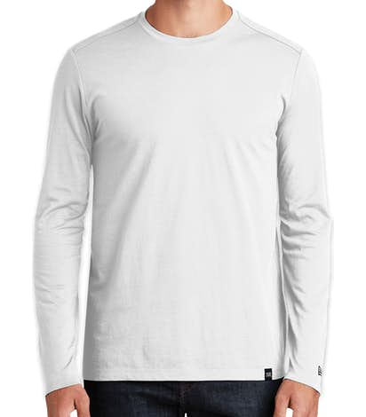 New Era Heritage Blend Long Sleeve T-shirt - White
