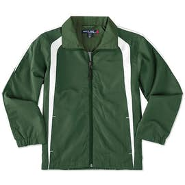 Sport-Tek Youth Full Zip Colorblock Warm-Up Jacket