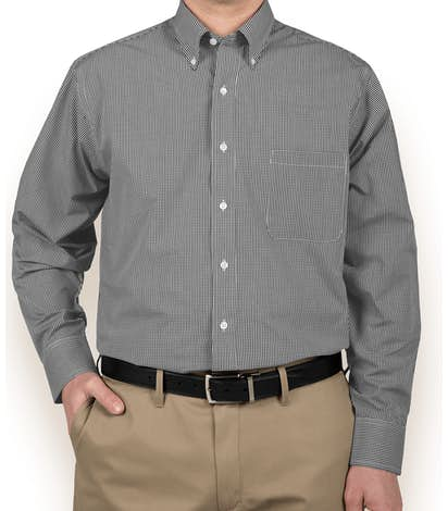 Van Heusen Gingham Dress Shirt - Black