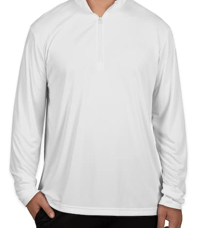 Sport-Tek Competitor Quarter Zip Performance Shirt - White