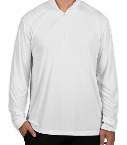 Sport-Tek Competitor Quarter Zip Performance Shirt - White