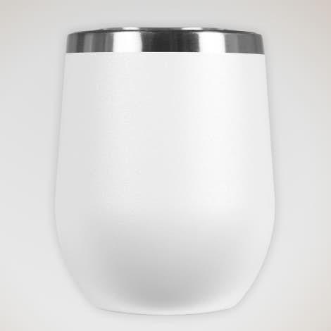 12 oz. Insulated Wine Tumbler - White
