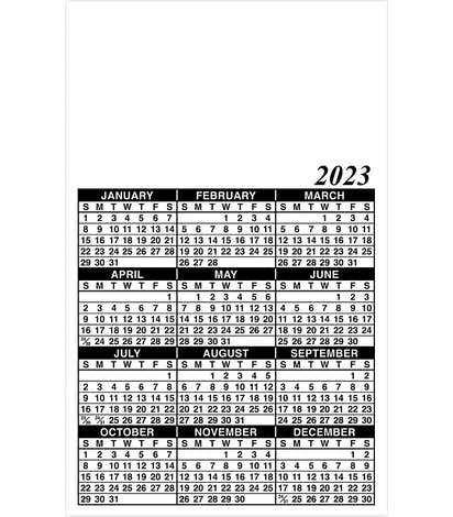 """Full Color Calendar Magnet - .036"""" - White"""