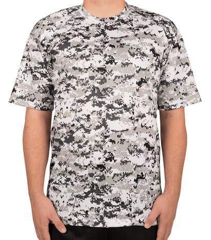 Badger Digital Camo Performance Shirt - White Digital