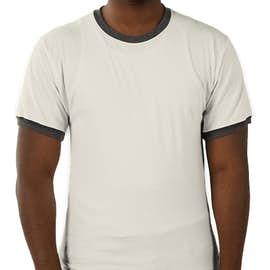 Champion Premium Fashion Ringer T-shirt - Color: Chalk White / Charcoal Heather