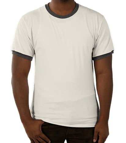 Champion Premium Fashion Ringer T-shirt - Chalk White / Charcoal Heather