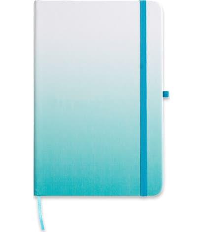 Medium Ombre Hard Cover Notebook - Light Blue