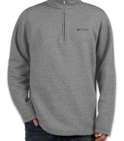 Columbia Half Zip Sweater Fleece Pullover - Boulder Heather