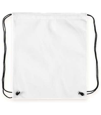 Promotional Non-Woven Drawstring Bag - White
