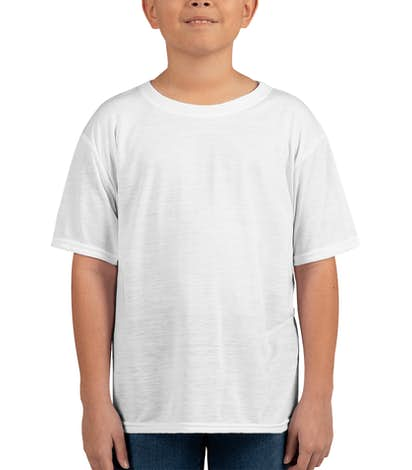 Gildan Youth Soft Jersey Performance Shirt - White