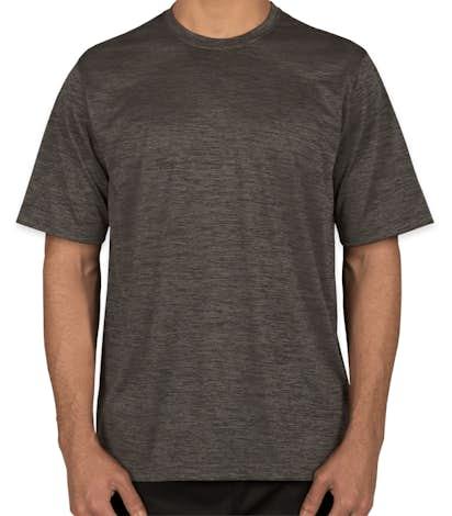 Sport-Tek Electric Heather Performance Shirt - Grey-Black Electric