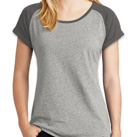 New Era Women's Varsity Heritage Blend Rolled Sleeve T-shirt - Color: Graphite / Light Graphite Twist