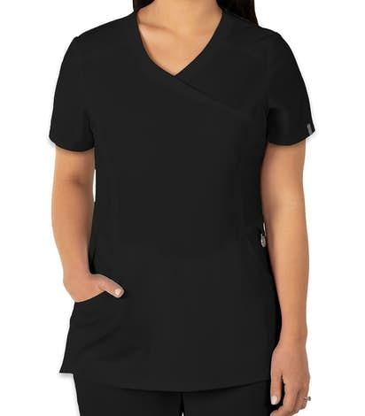 Cherokee Infinity Women's Mock Wrap Scrub Top - Black