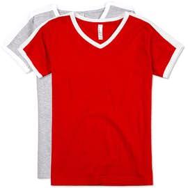 LAT Women's Soccer V-Neck T-shirt