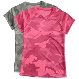 Champion Women's Camo V-Neck Performance Shirt
