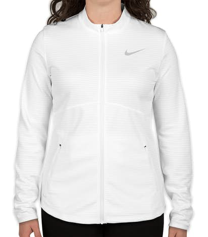 Limited Edition Nike Women's Performance Full Zip Jacket - White / Cool Grey