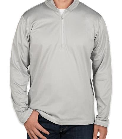 The North Face Tech Quarter Zip Fleece Pullover - Light Grey Heather