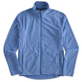 Port Authority Heather Microfleece Full Zip Jacket