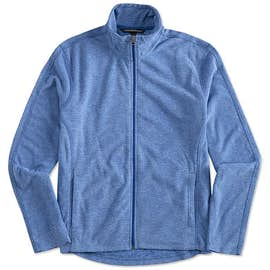 Port Authority Heather Microfleece Full Zip Jacket