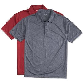 Sport-Tek Heather Performance Polo - Embroidered