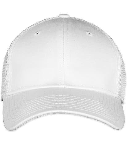 New Era 39THIRTY Stretch Fit Mesh Hat - White