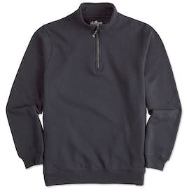 Charles River Pocket Quarter Zip Sweatshirt - Screen Printed