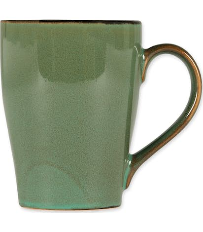 16 oz. Ceramic Two-Tone Sherwood Mug - Willow Green / Black