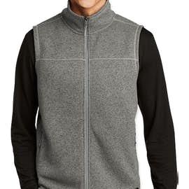 The North Face Sweater Fleece Vest - Color: Dark Heather Grey