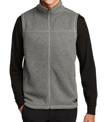 The North Face Sweater Fleece Vest - Dark Heather Grey