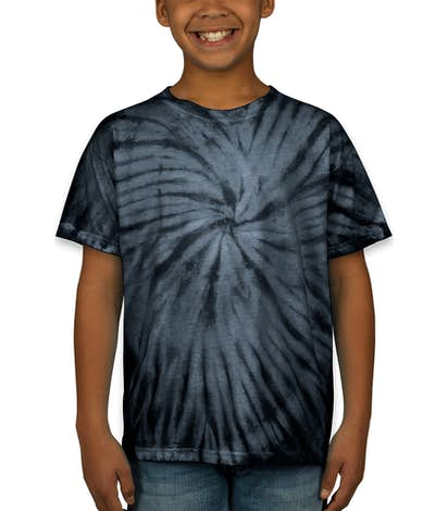 Dyenomite Youth 100% Cotton Tonal Tie-Dye T-shirt - Black